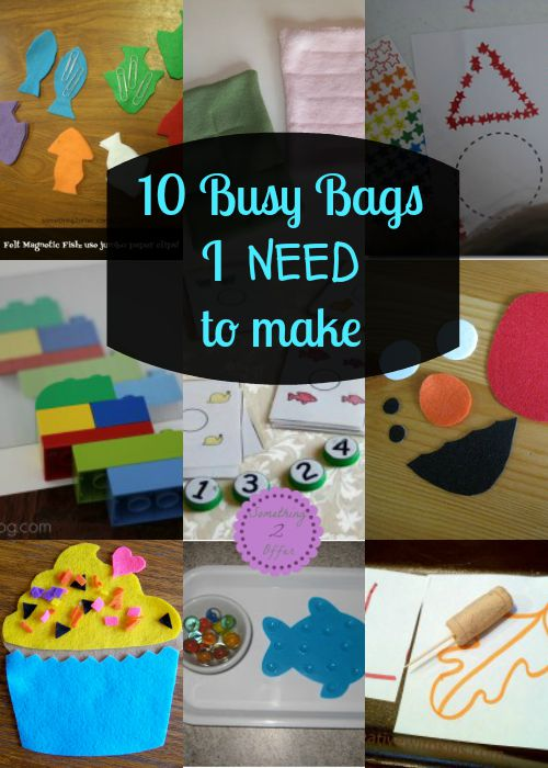 10 Busy Bags I need to make