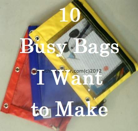 busy bags I want to make