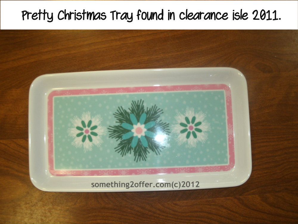 Pretty Floral Christmas Tray