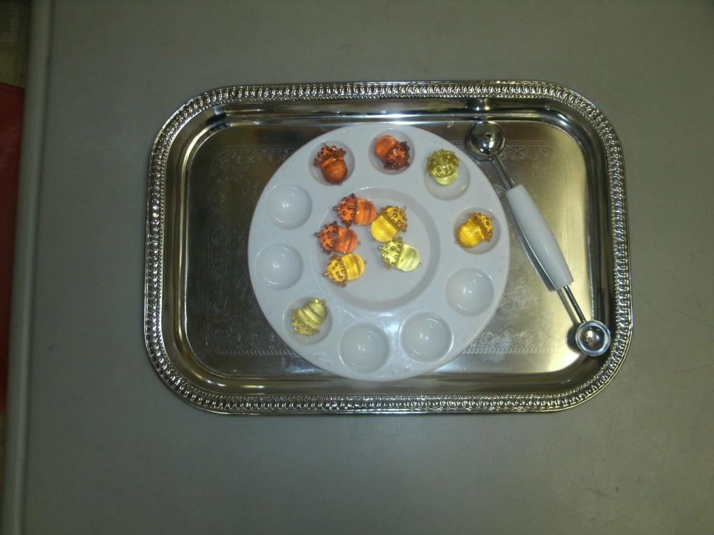 paint pallette acron scoop tray