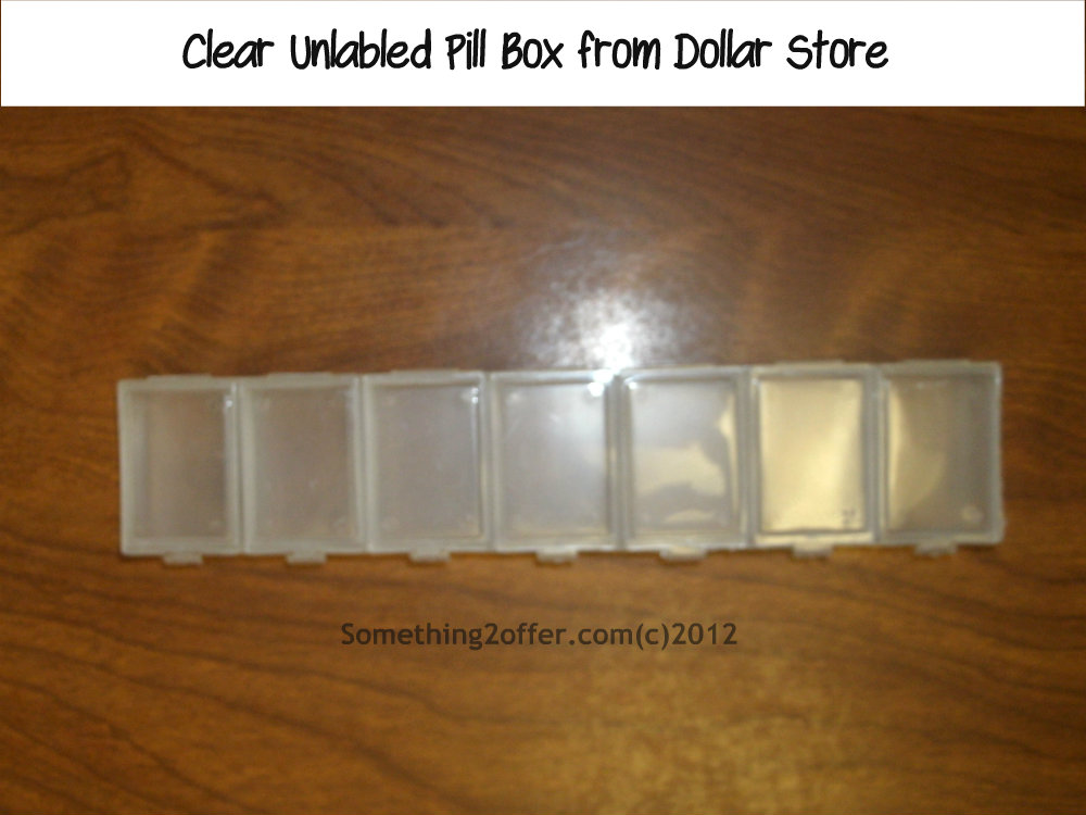 clear pill box