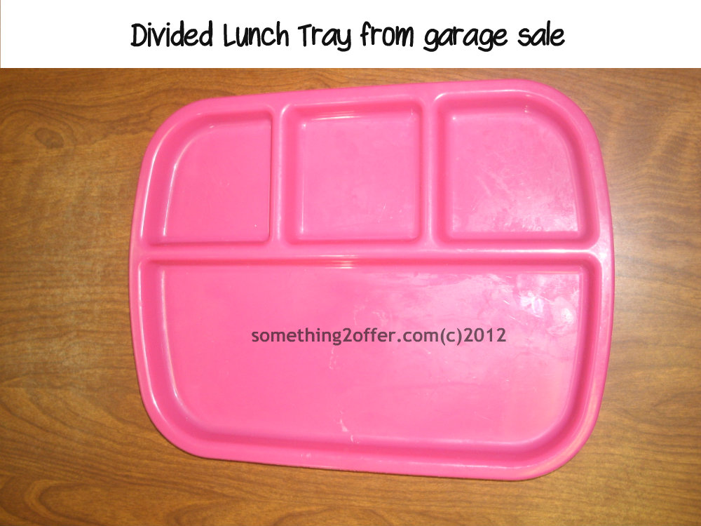 divided lunch tray