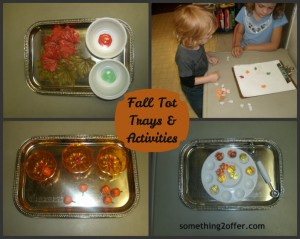 fall trays and activities