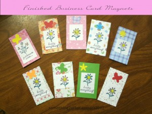 decorated business card magnets