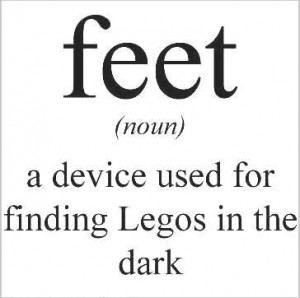feet legos defined