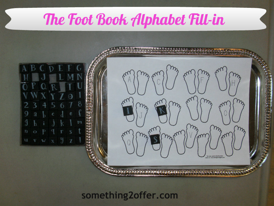 The Foot Book Alphabet Match