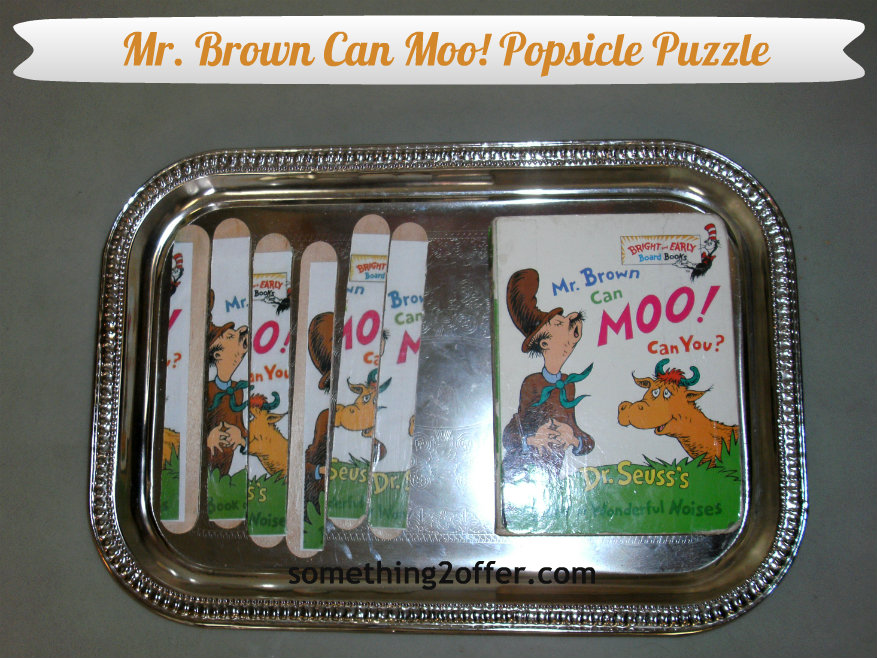 Mr. Brown Can Moo Popsicle puzzle