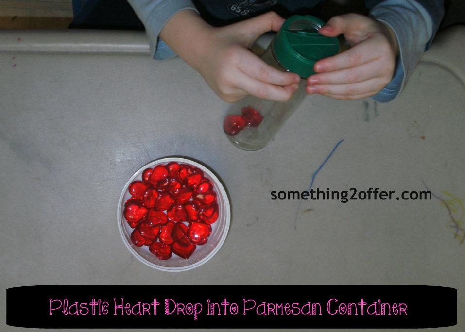plastic heart drop