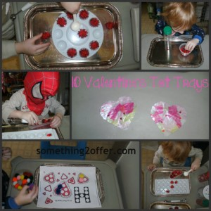 valentines tot trays Collage