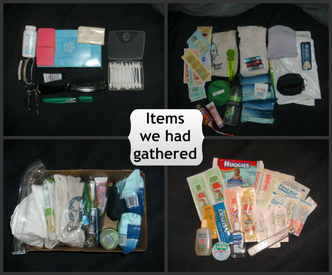 Toiletries we own for emergency preparedness
