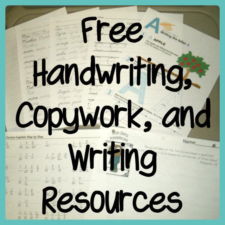 Free Handwriting Copywork And Writing Resources. Free Handwriting Copywork And Writing Resources. Worksheet. Handwriting Worksheets Donna Young At Clickcart.co