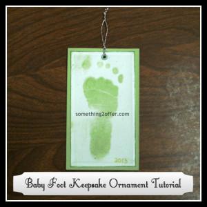 baby foot keepsake ornament