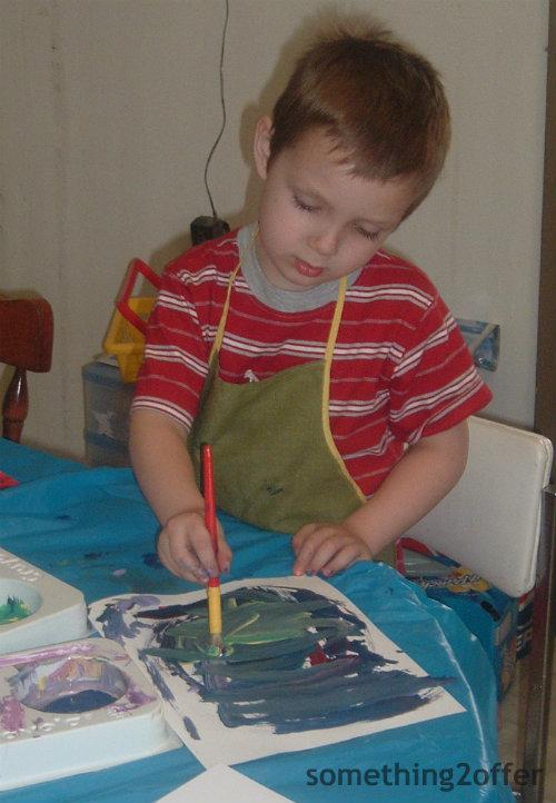 little artist boy