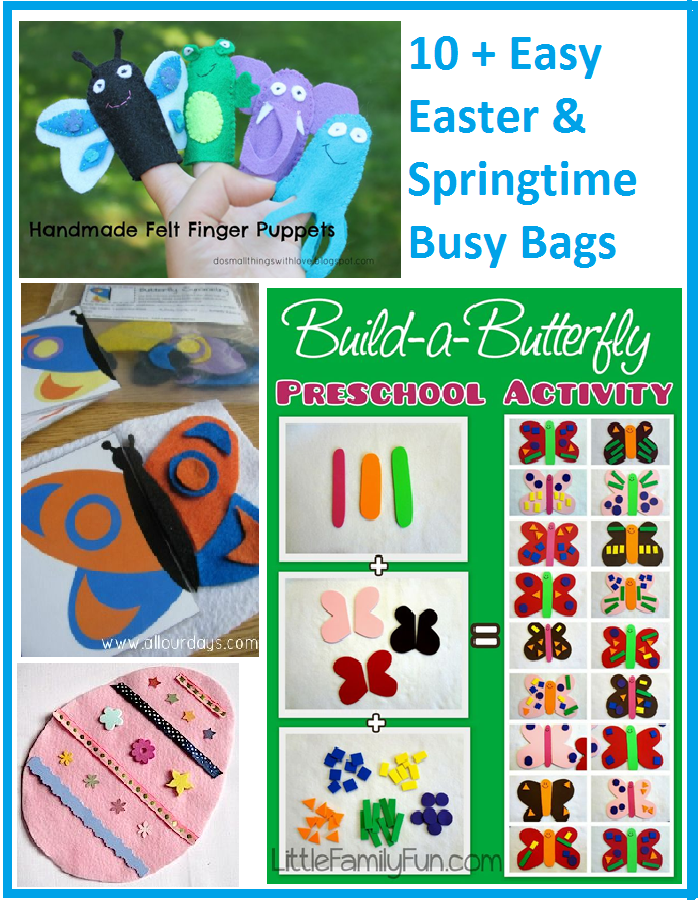 Easter Busy Bag Ideas