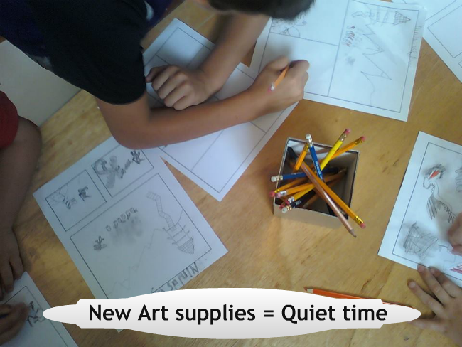 art supplies_quiet time