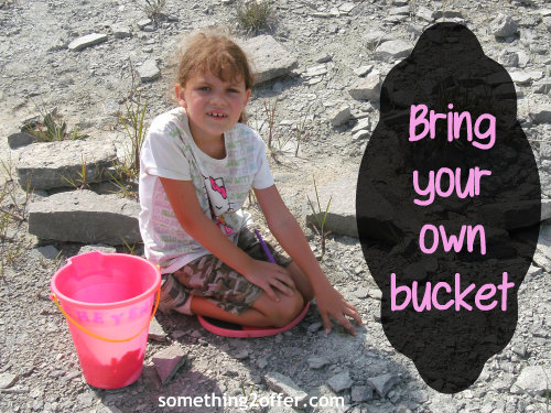bring your own bucket for fossil hunting