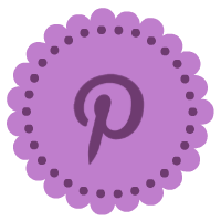 purple pinterest icon