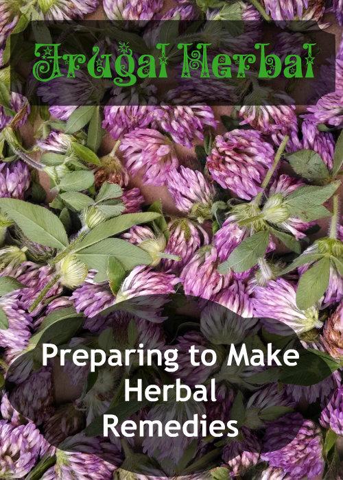 preparing to make herbal remedies