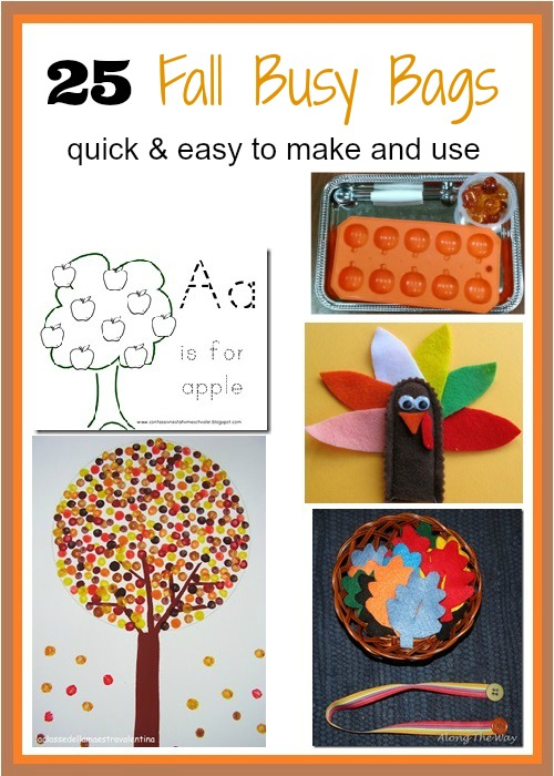 Fall Busy Bag ideas