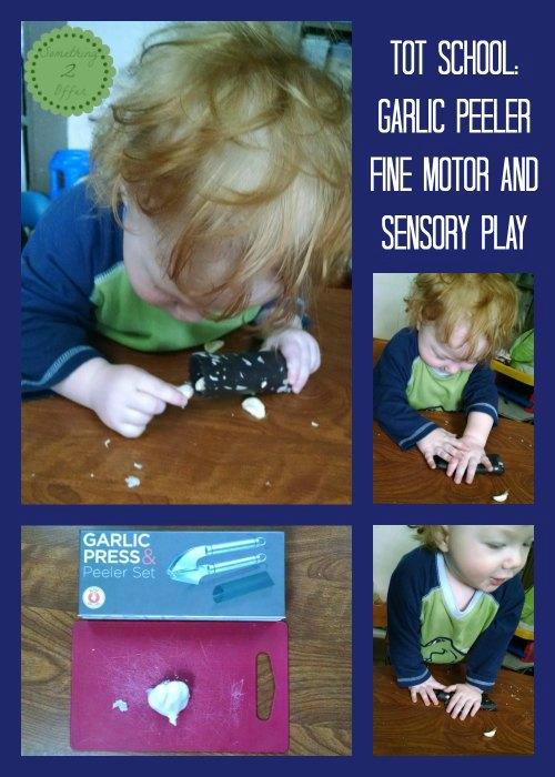 garlic peeler fine motor and sensory play
