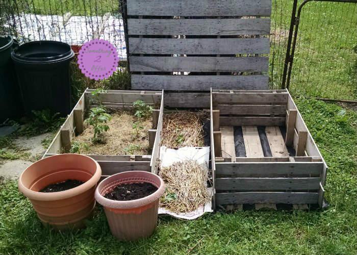 double raised garden beds - Pallet Garden Bed