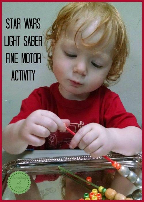 light saber fine motor activity