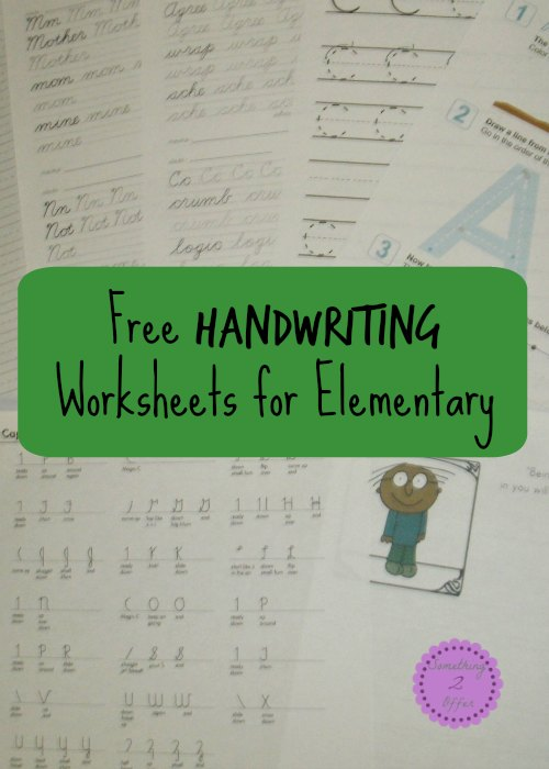 free handwriting worksheets for elementary. Black Bedroom Furniture Sets. Home Design Ideas