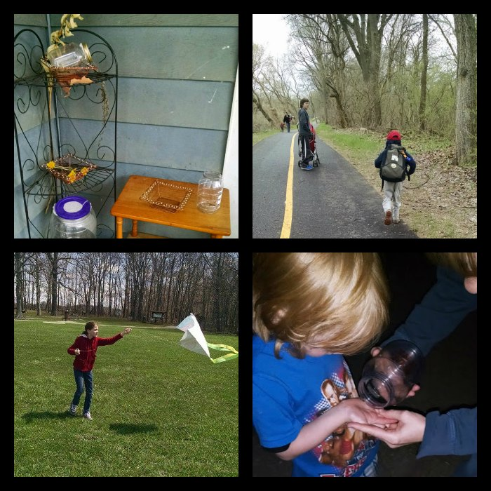 Science outdoors kite nature table hike