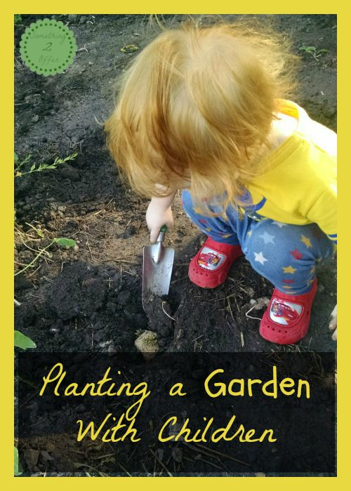 Planting a garden with children