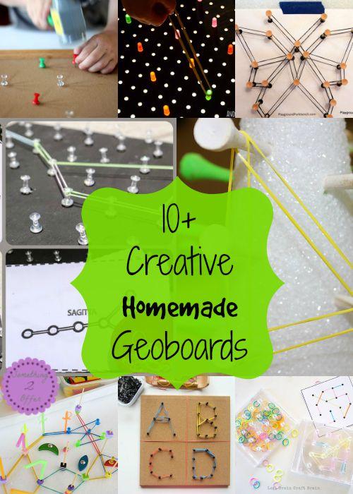 creative homemade geoboards