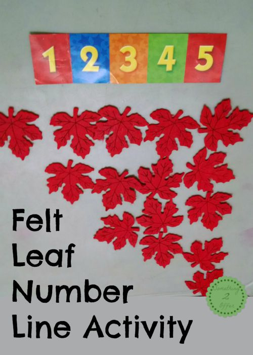 Felt Leaf Number Line Activity