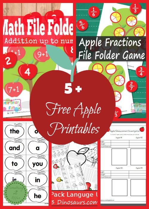 Free Apple Printables for Elementary Students
