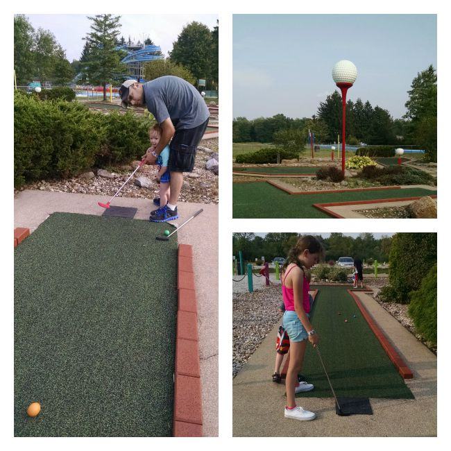 miniature golf at Pioneer Waterland
