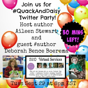 #quackAndDaisy Twitter Party 30 mins