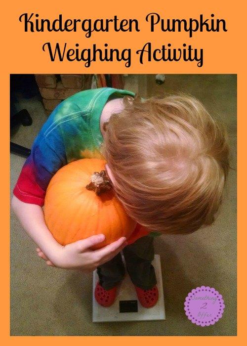 Kindergarten Pumpkin Weighing Activity