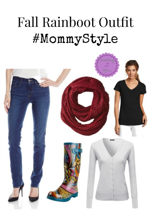 Fall Rainboot Outfit #MommyStyle