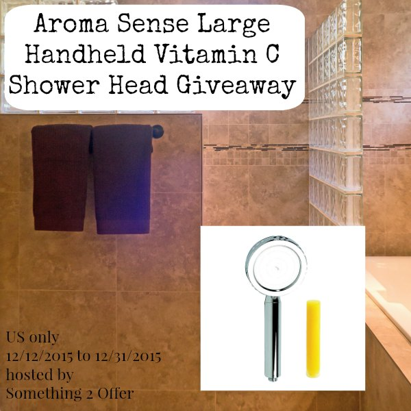 Aroma Sense Large Handheld Vitamin C Shower Head Giveaway sq