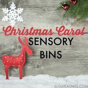 Christmas carol sensory bins