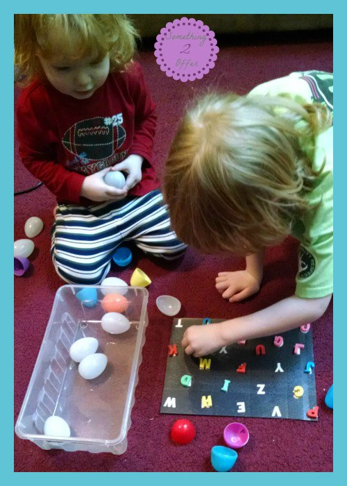 Plastic Egg Letter Recognition Hunt