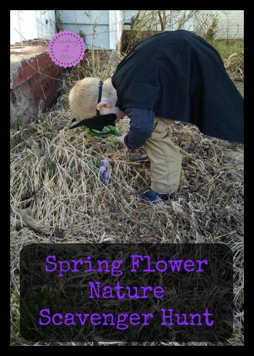 Spring Flower Nature Scavenger Hunt
