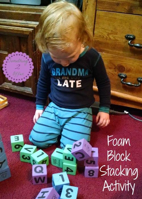 Foam Block Stacking Activity