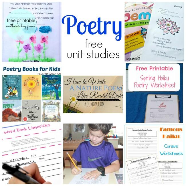 poetry unit study