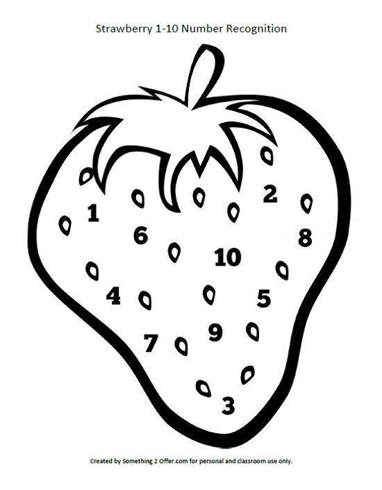 Striking image for strawberry printable