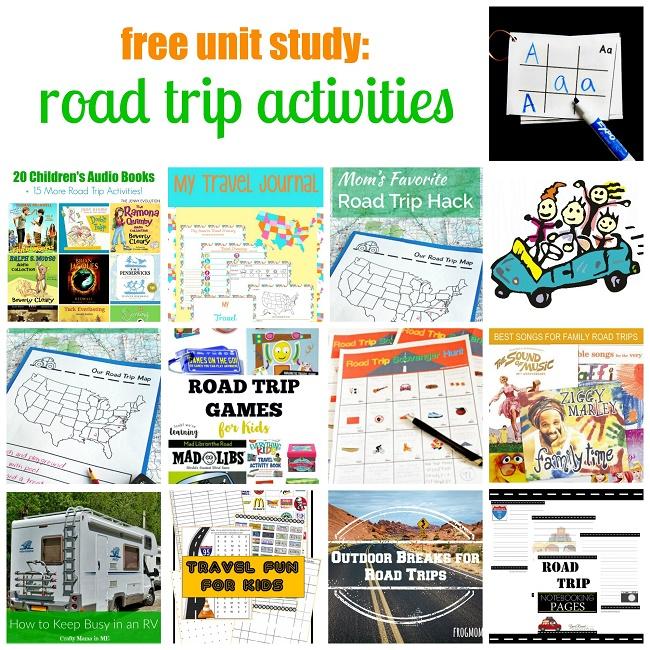 Road Trip Activities Unit Study