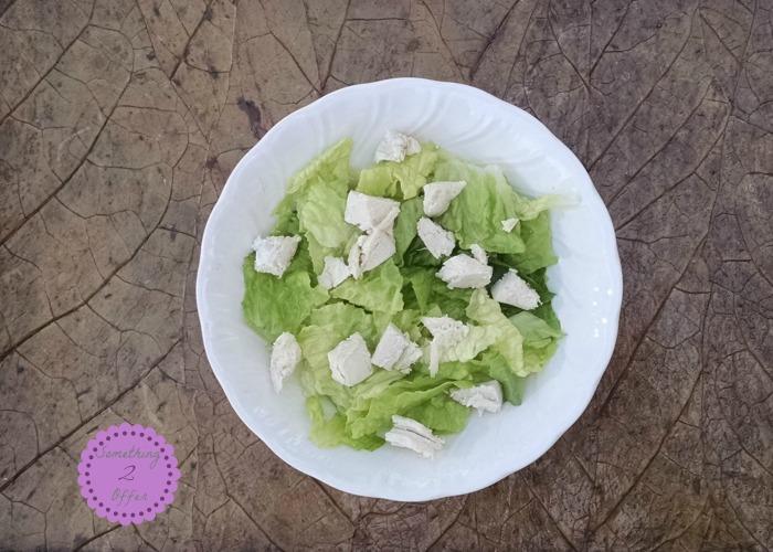 bowl of lettuce chicken