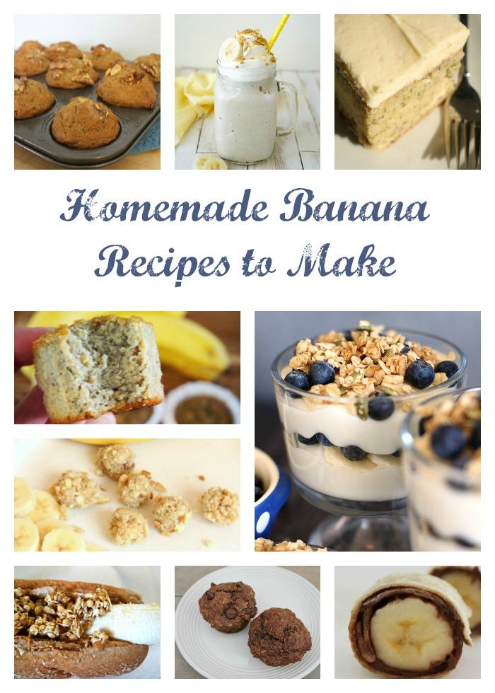 Homemade Banana Recipes