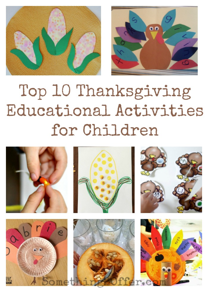 Top 10 thanksgiving educational activities for children for Educational crafts for toddlers
