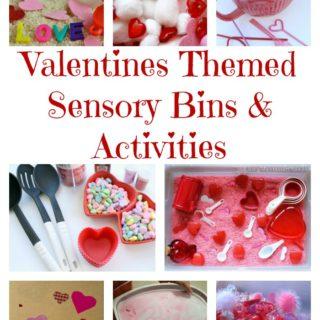 Valentines Sensory Bins and Activities
