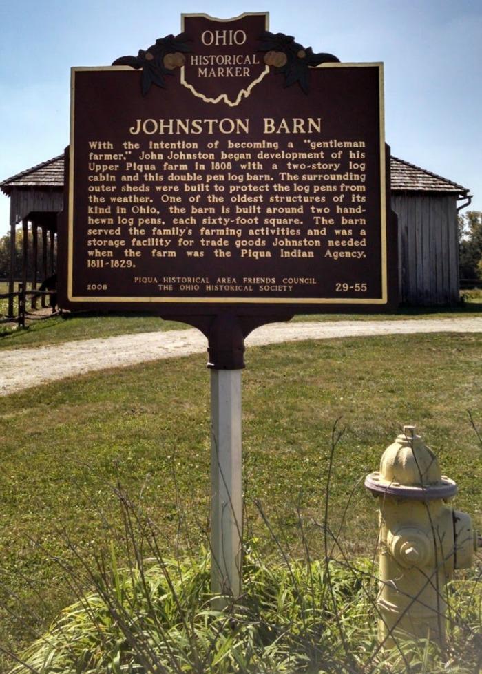 Johnston Barn Historical Marker