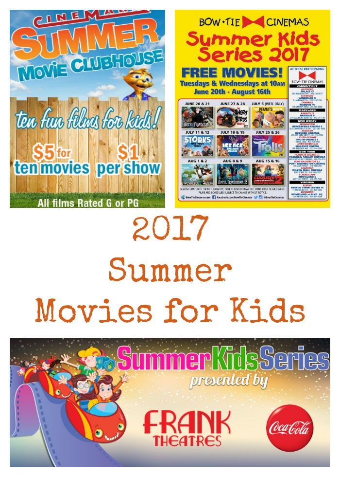 2017 Summer Movies for Kids